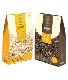 OOSH Chia 250 Gms & Sunflower 200 Gms Regular Sunflower Seeds Natural 450 Gm Pack Of 2