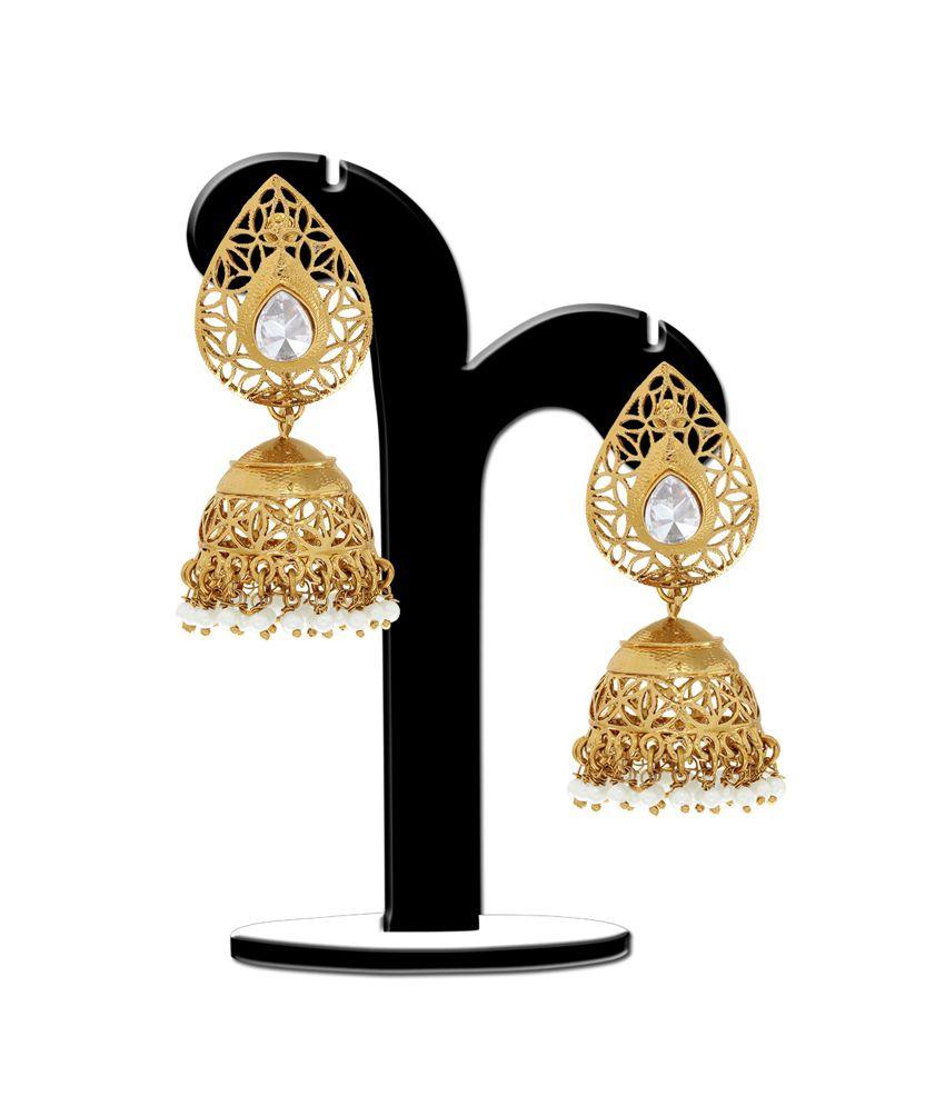 Spargz Golden Brass Jhumkis