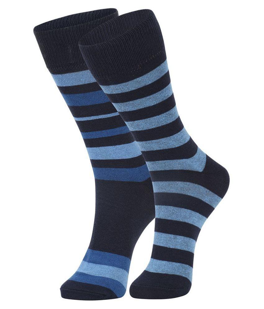 Dukk Blue Casual Full Length Socks