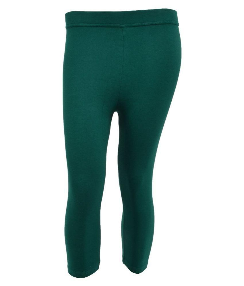 Tanus Green Cotton Capri