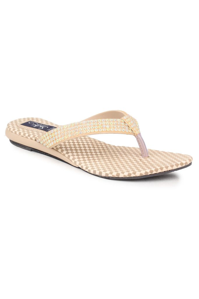 Sindhi Footwear Beige Platforms Flats