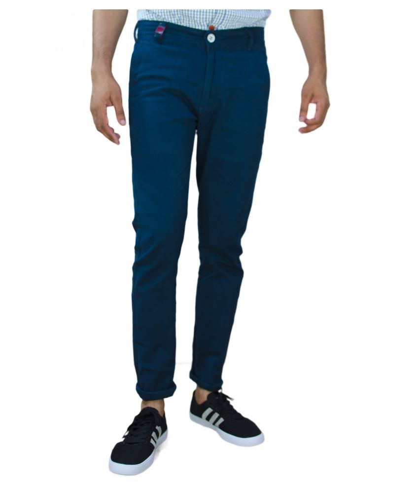UNQ Blue Slim Flat Trouser