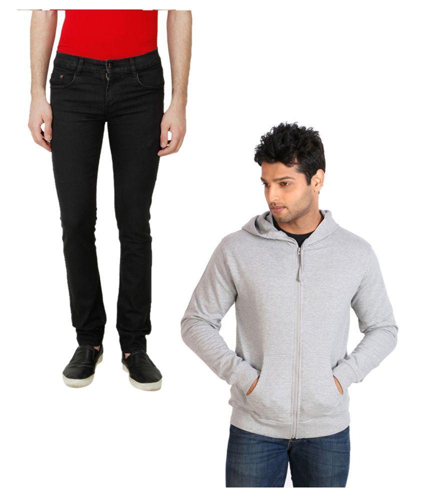 Ansh Fashion Wear Black Regular Fit Solid