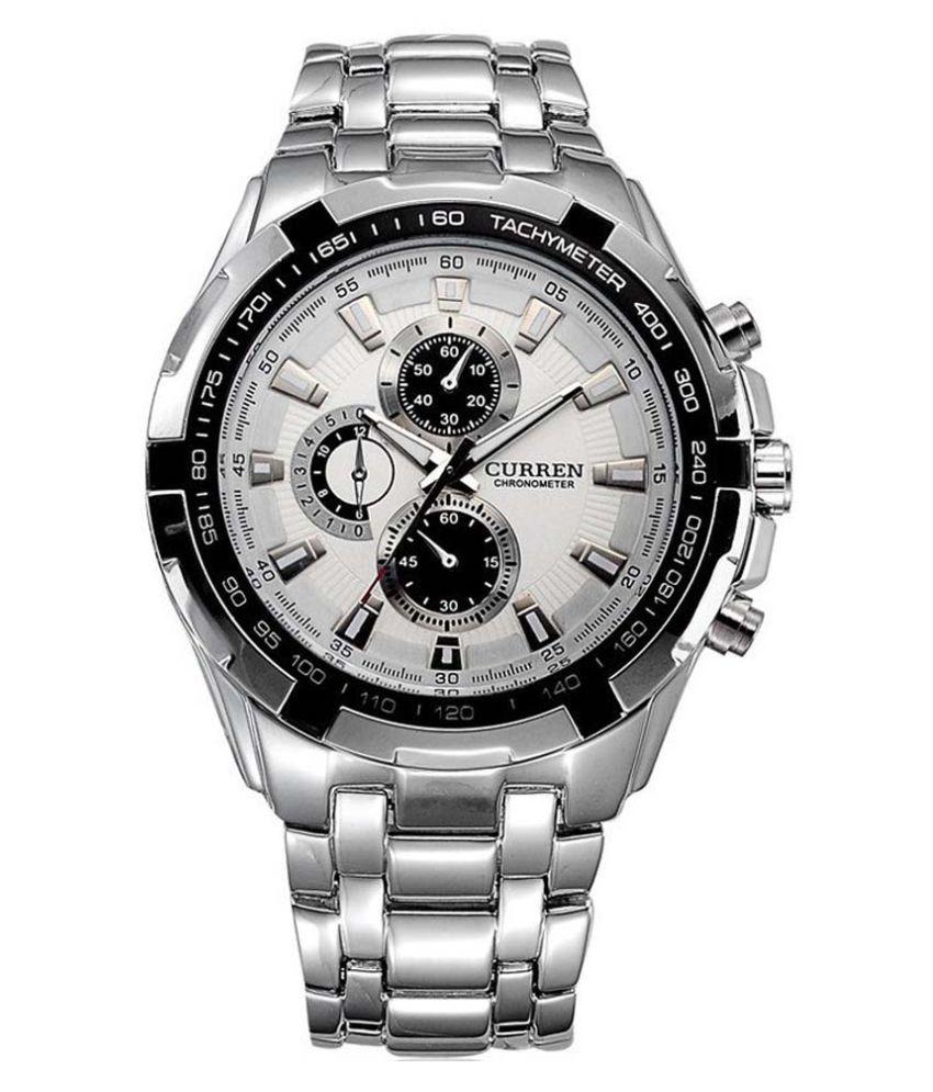 8d9934cf5e Curren Silver Analog Watch
