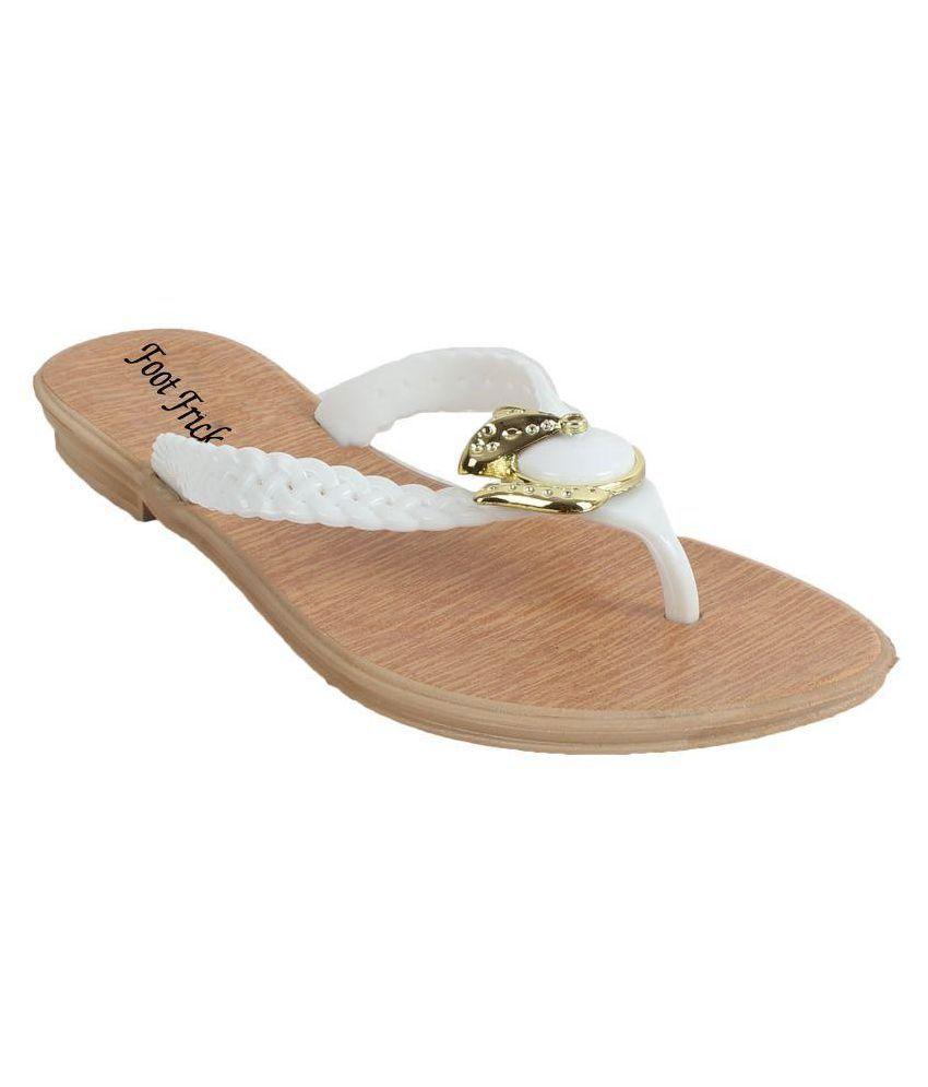 Foot Frick White Slides