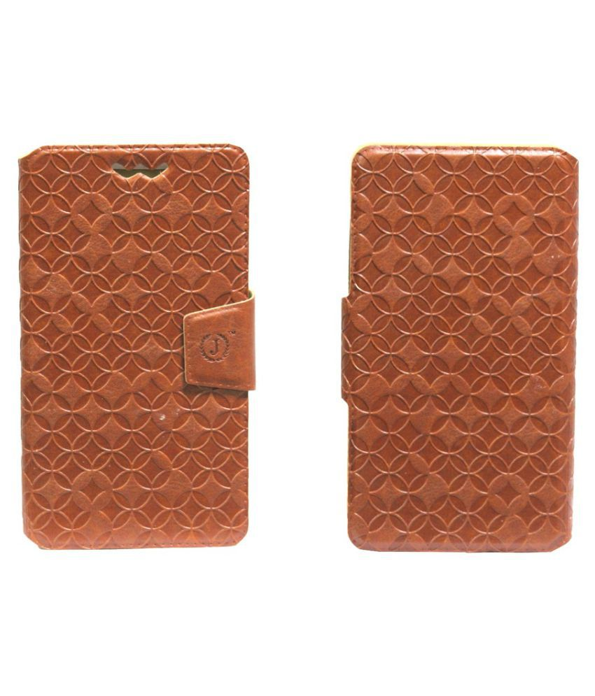 Nokia Lumia 638 Flip Cover by Jojo - Brown