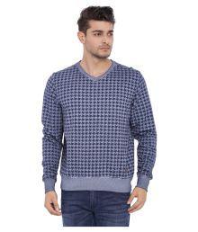 Blue Saint Blue V Neck Sweatshirt