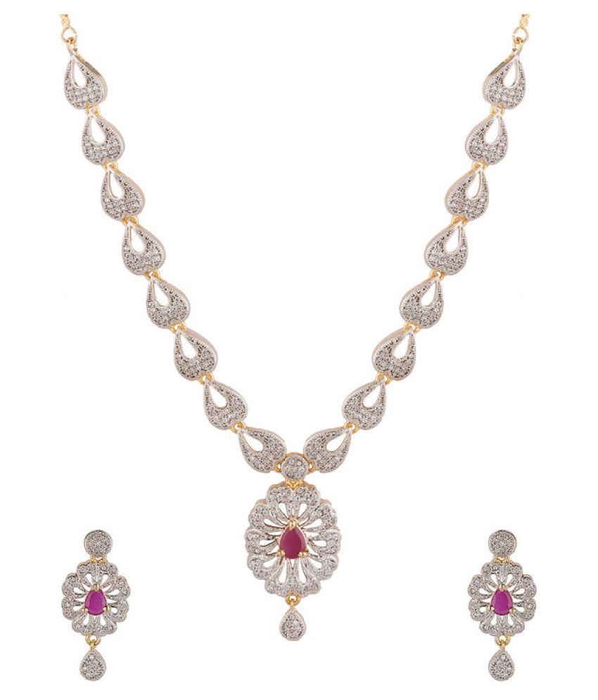 Navya Creation Silver Necklace Set