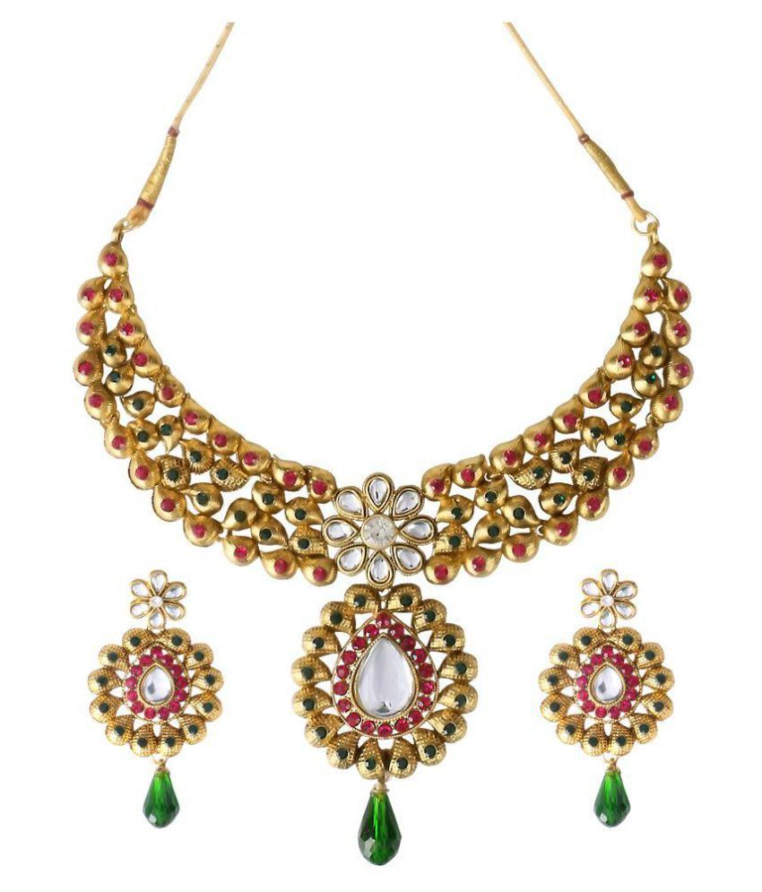 Big Tree Gold Plated Alloy Necklace Set