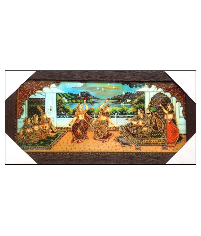 AMAZING COLLECTIONS Mughal Art Painting With Frame