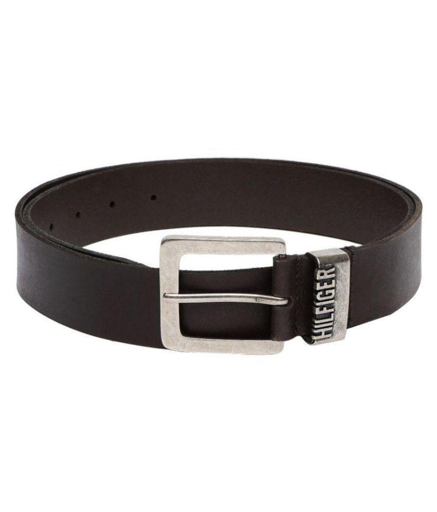 Tommy Hilfiger Brown Leather Formal Belts