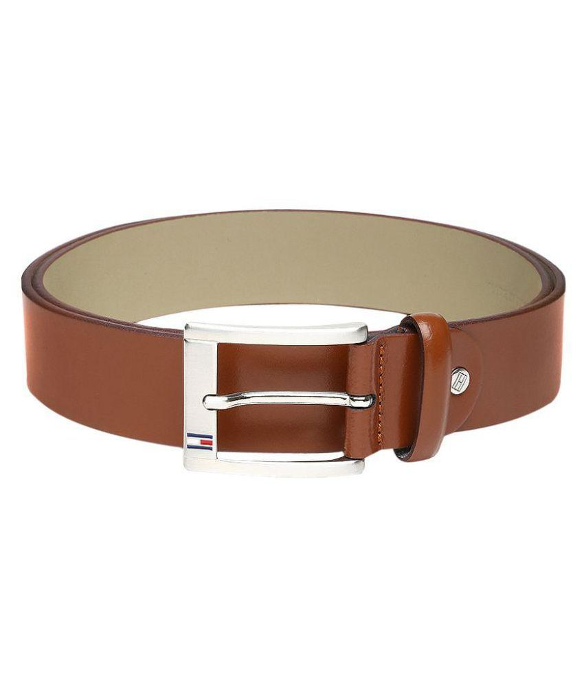 Tommy Hilfiger Tan Leather Formal Belts