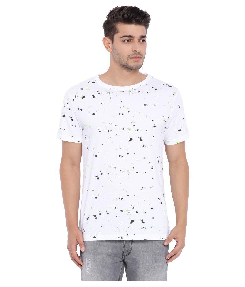 Blue Saint White Round T-Shirt