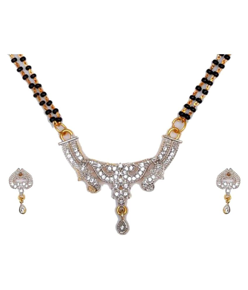 S K Fashion Gold Plated Alloy Mangalsutra Set