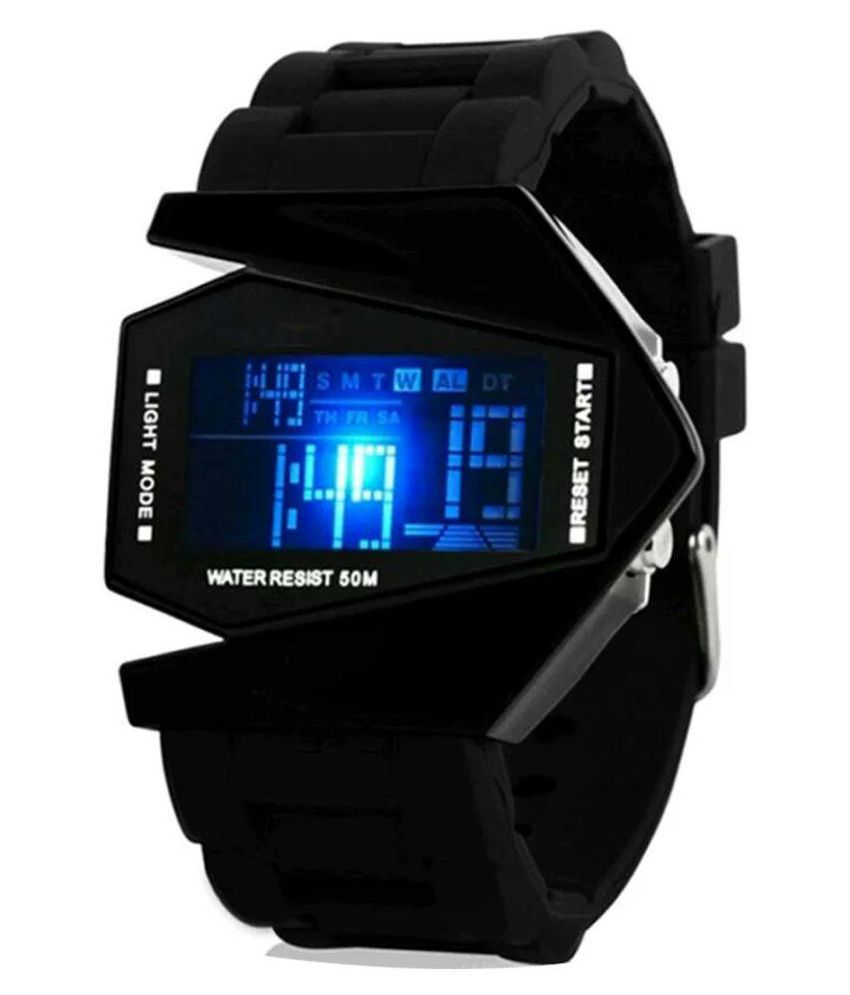 Smc black digital led watch price in india buy smc black digital led watch online at snapdeal for Watches digital