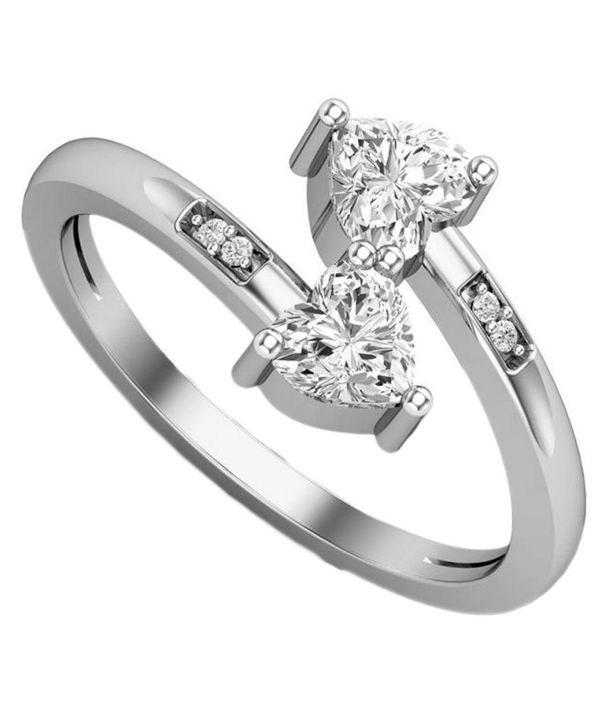 ss jewellers 92.5 Silver Swarovski Ring