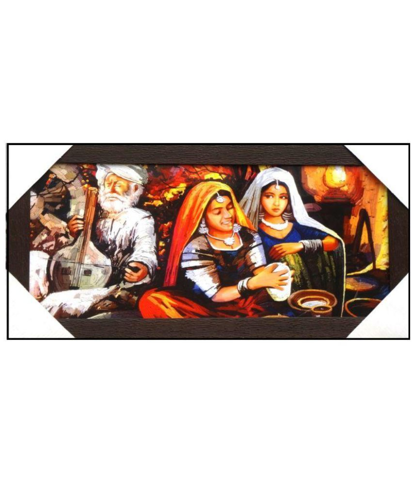 AMAZING COLLECTIONS Rajasthani Culture Acrylic Art Prints With Frame Single Piece