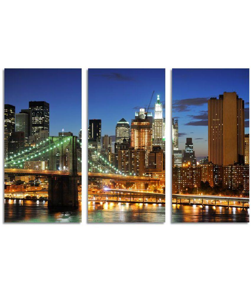 ELL DECOR Architecture Canvas Art Prints Without Frame 3 Combination