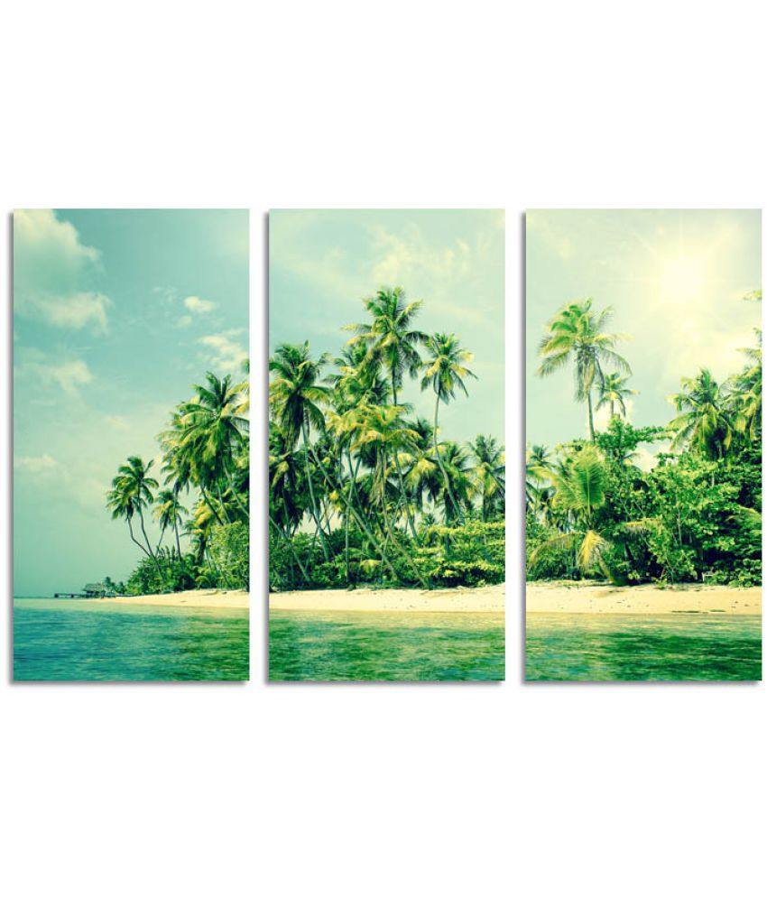 ELL DECOR Landscape Canvas Art Prints Without Frame 3 Combination