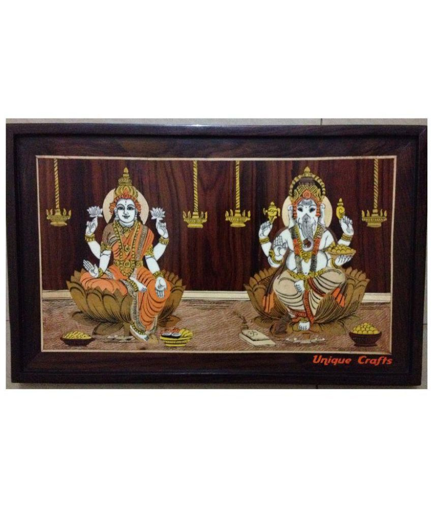 Unique Crafts Mysore Wooden Inlay Painting Wood Hand Paintings With