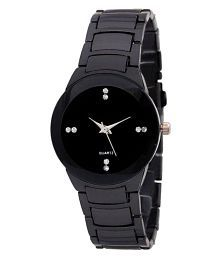 IIK Collection Silver and Black Analog Watch - For Girls, Women