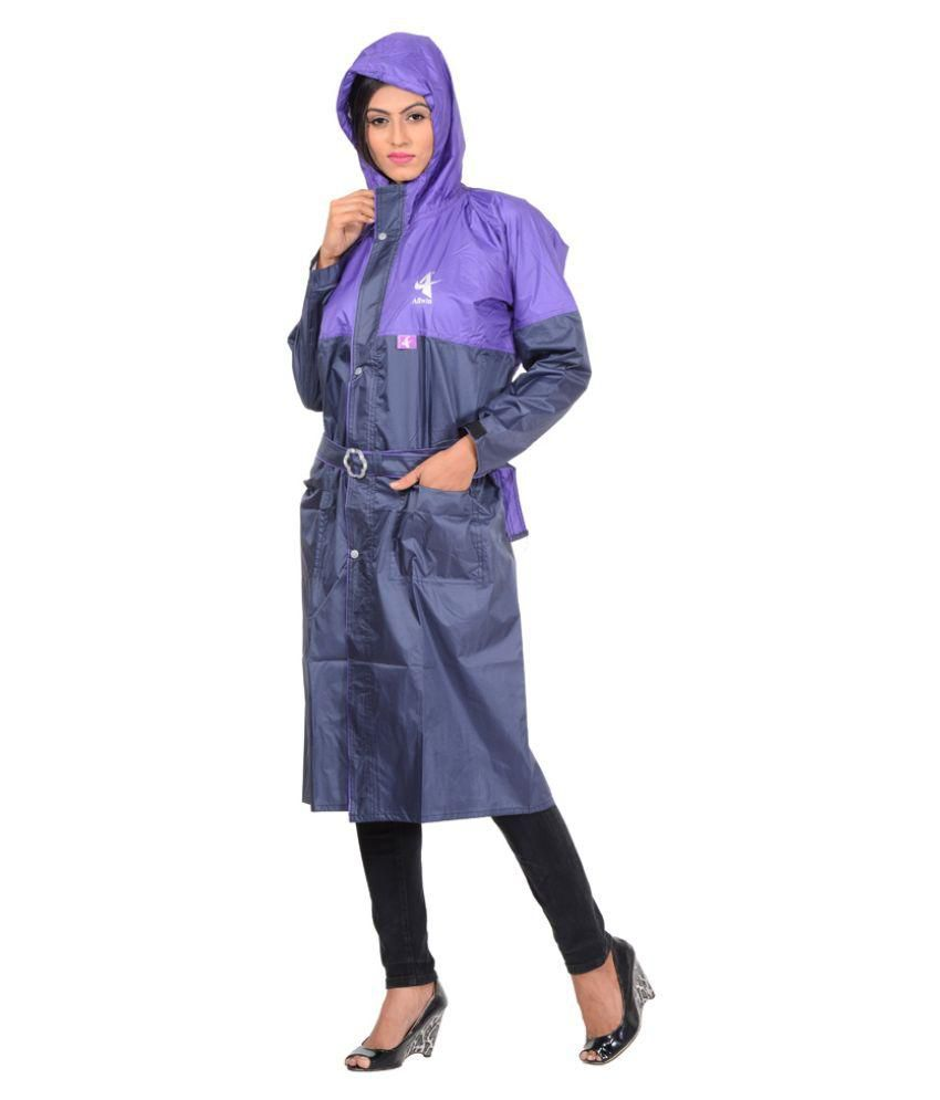 Allwin Multi Color Polyester Long Raincoat
