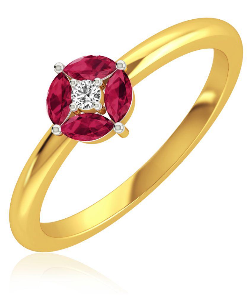 RockRush 18k BIS Hallmarked Yellow Gold Ring