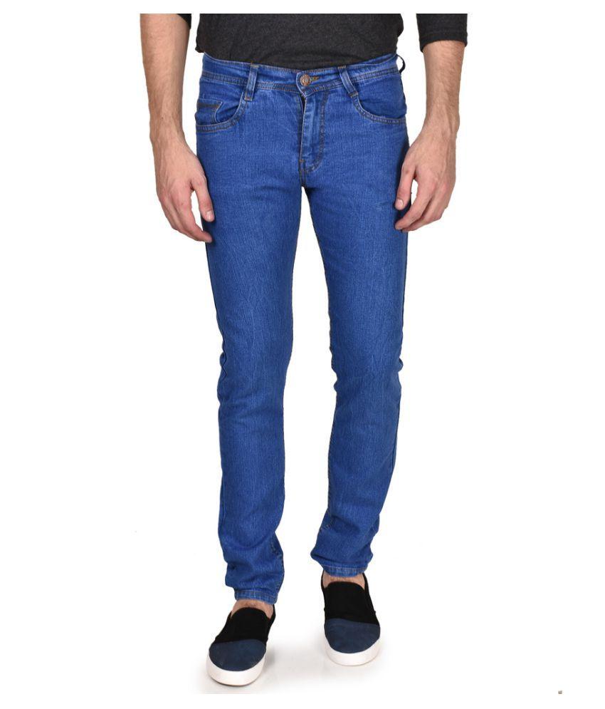 Routeen Dark Blue Slim Solid