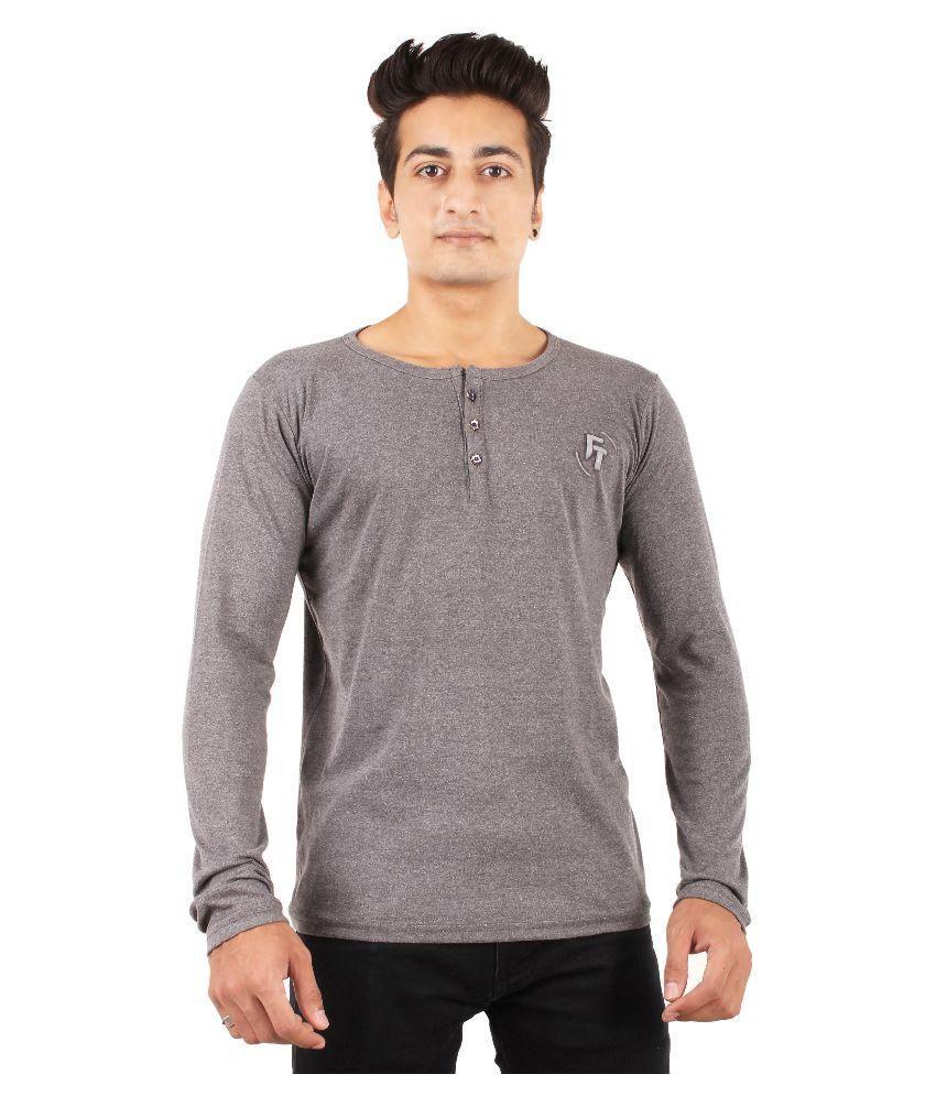 FTrick Dark Grey Henley T-Shirt