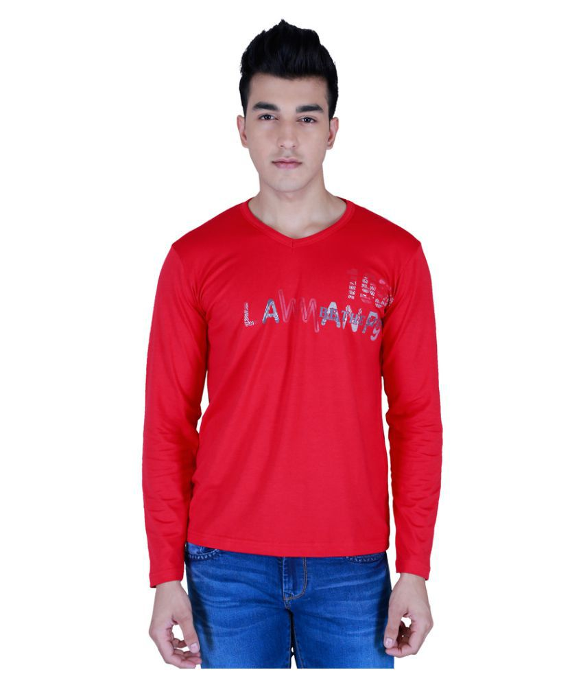 Lawman Pg3 Red Cotton T-Shirt Single Pack