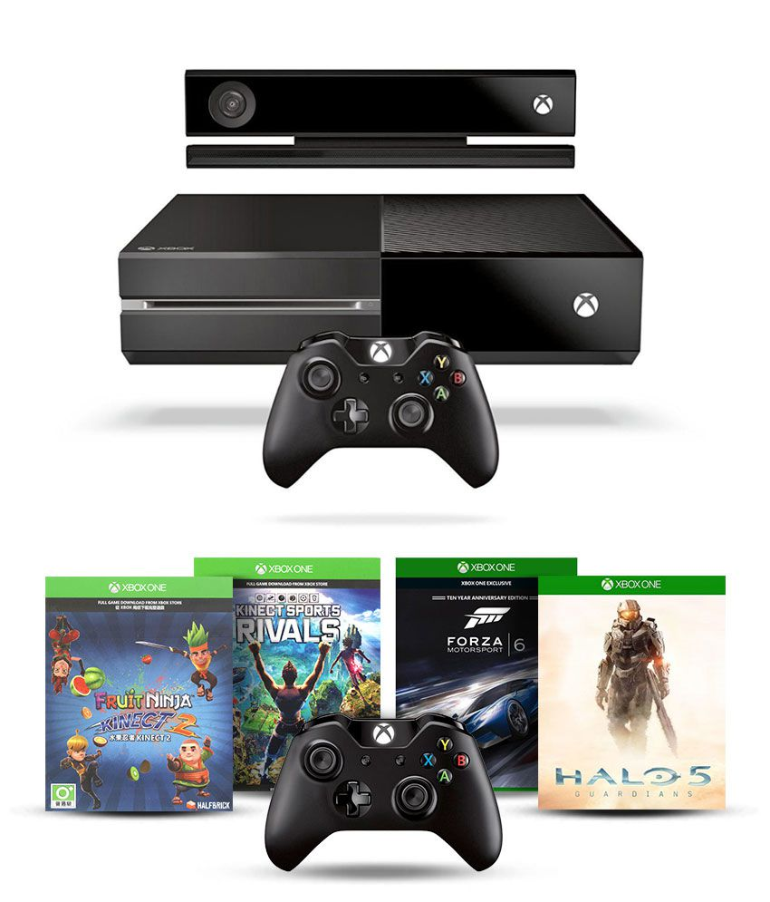 Microsoft Xbox One Console with Kinect with 1 Extra Wireless Controller and 4 Games DLC (Halo 5, Forza Motorsport 6 , Fruit Ninja 2 & Kinect  By Snapdeal @ Rs.42,799