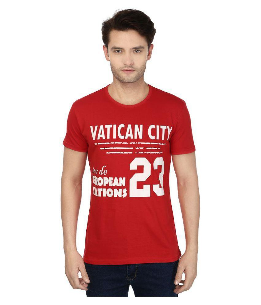 Buxus Red Round T-Shirt