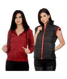 Darwin Multi Color Fleece Bomber Jackets With Sweatshirt - 663119777307