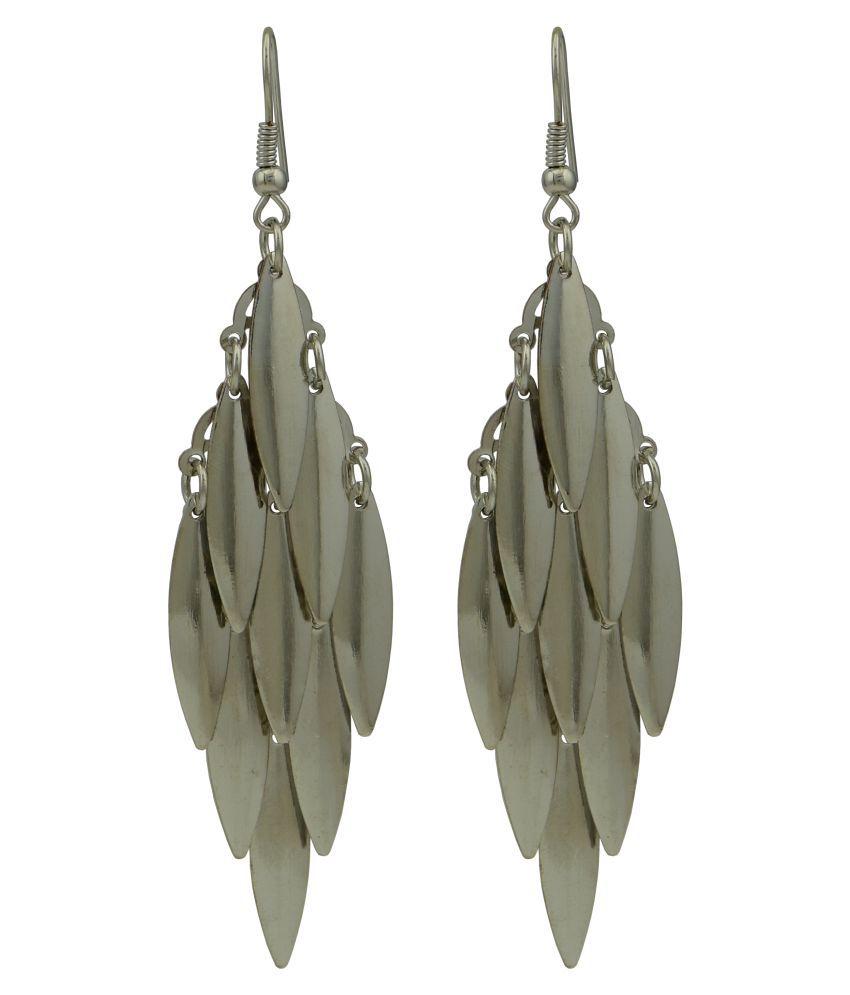 High Trendz Silver Alloy Earrings