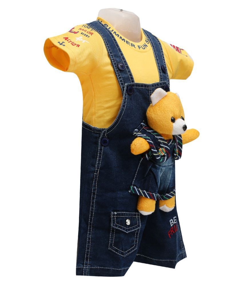74c10be7a2cc Balloons Yellow Denim Rompers - Buy Balloons Yellow Denim Rompers ...