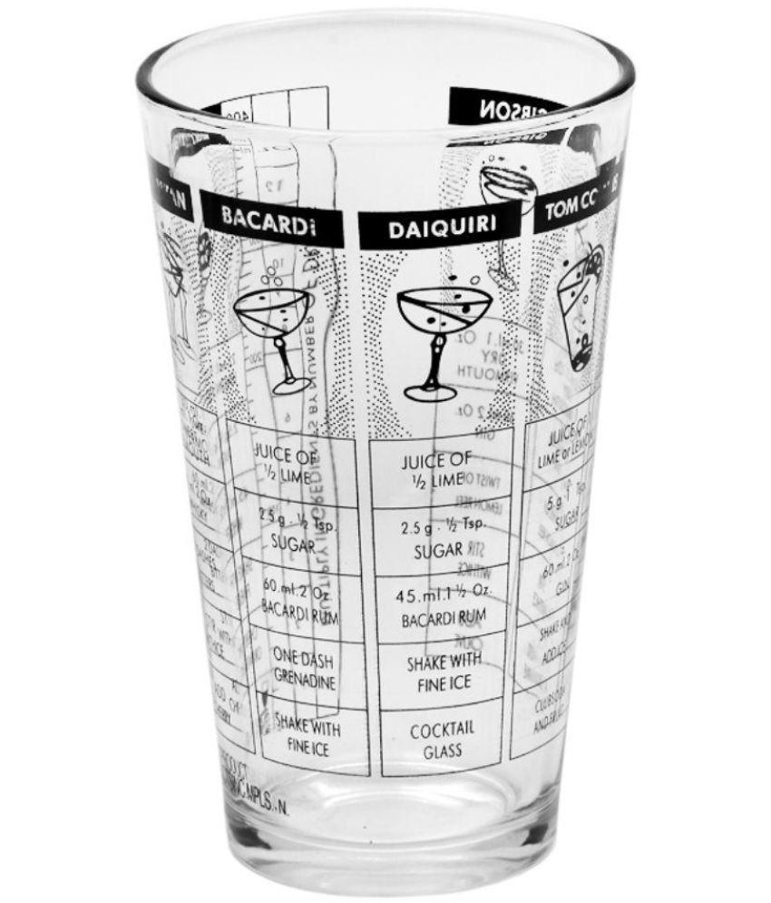 Barworld Transparent Cocktail Shaker Glass
