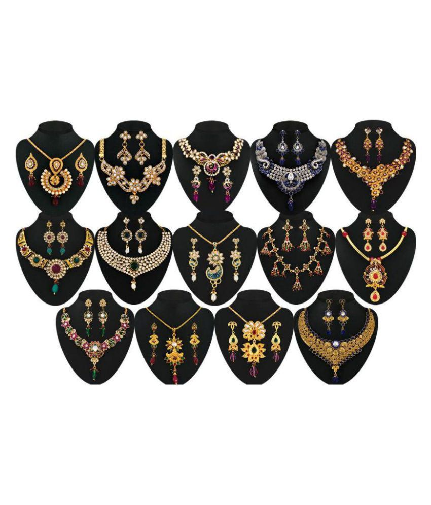 Dhyara Creations Multicolor Necklace Set Combo