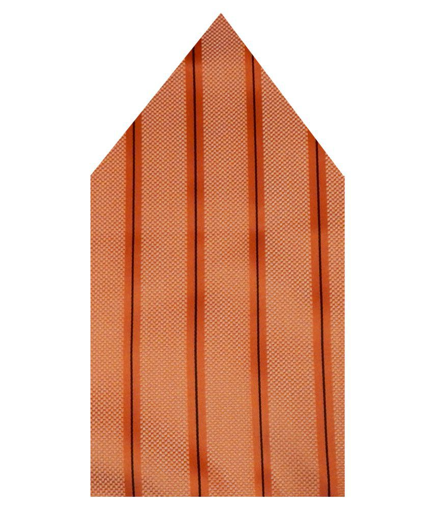 Navaksha Orange Micro Fiber Pocket Square