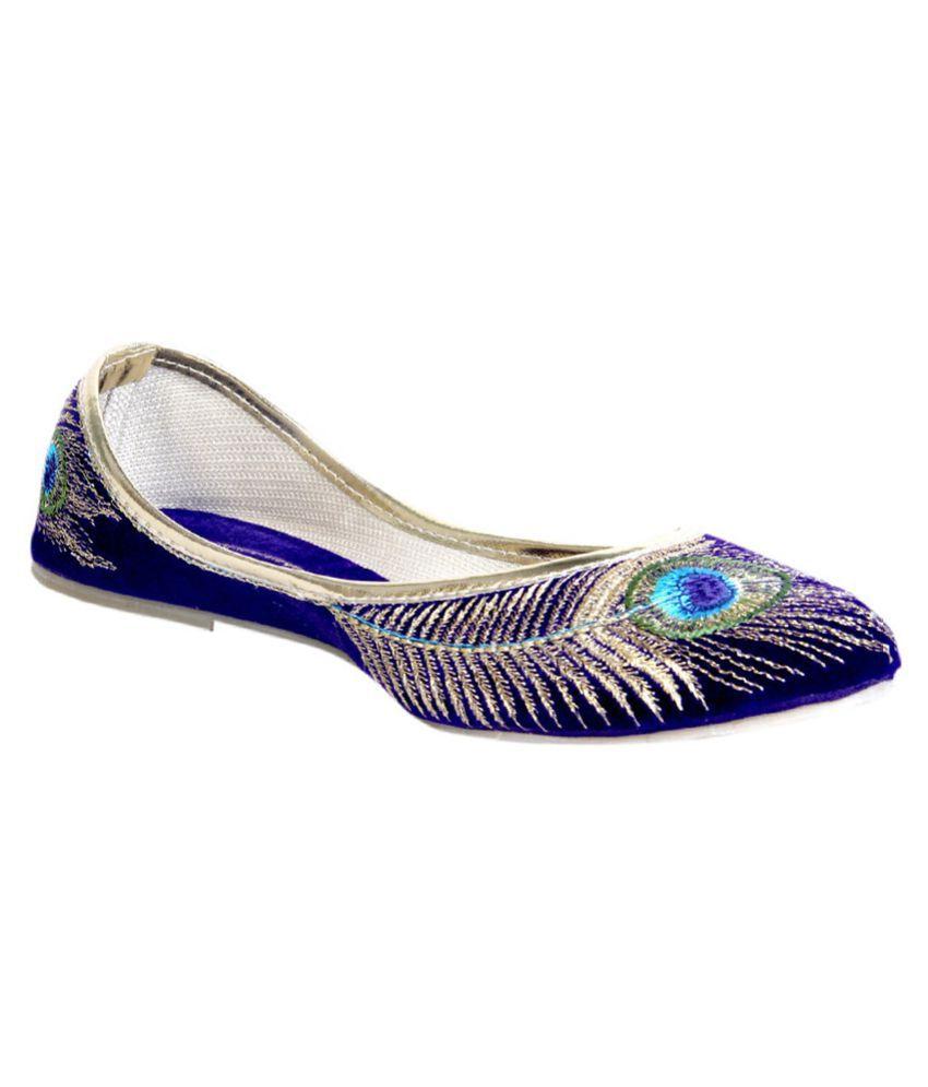 Rajasthani Prints Multi Color Flat Ethnic Footwear