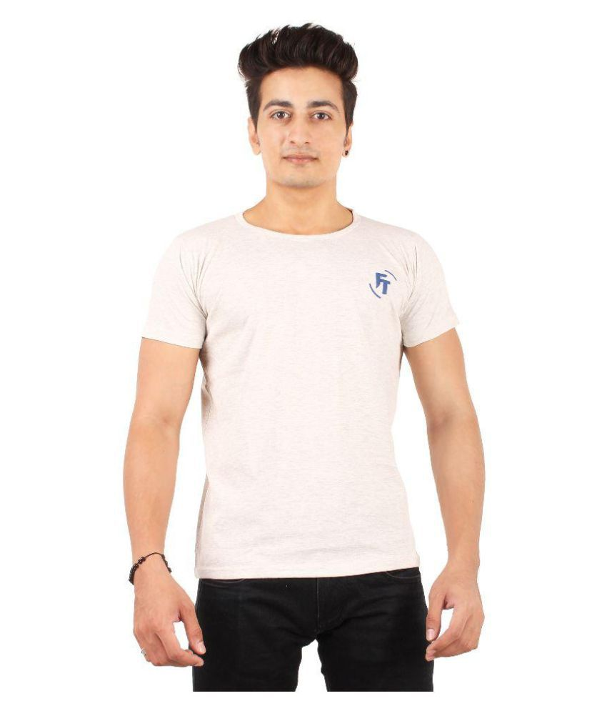 FTrick Light Grey Round T-Shirt