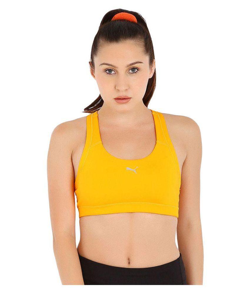Puma Yellow Sports Bra