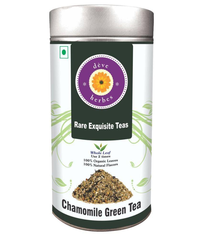 Deve Herbes Chamomile Green Organic Tea Loose Leaf 50 gm