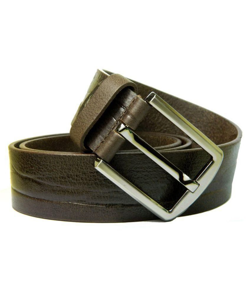 Herte Brown Leather Casual Belts