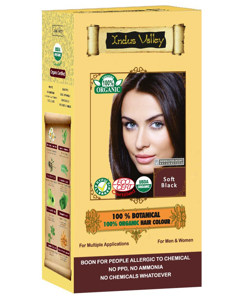 Indus Valley Halal Organic Hair Color Soft Black Buy Indus Valley