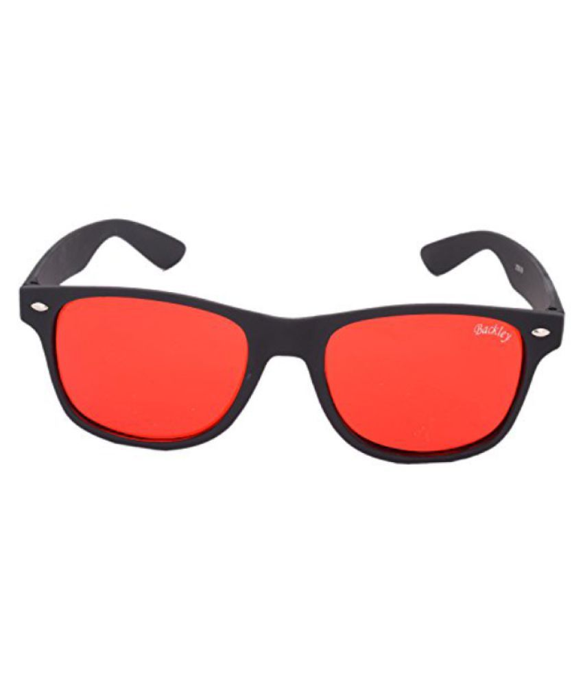 red wayfarer sunglasses s0zc  Backley Red Wayfarer Sunglasses  BS-01611