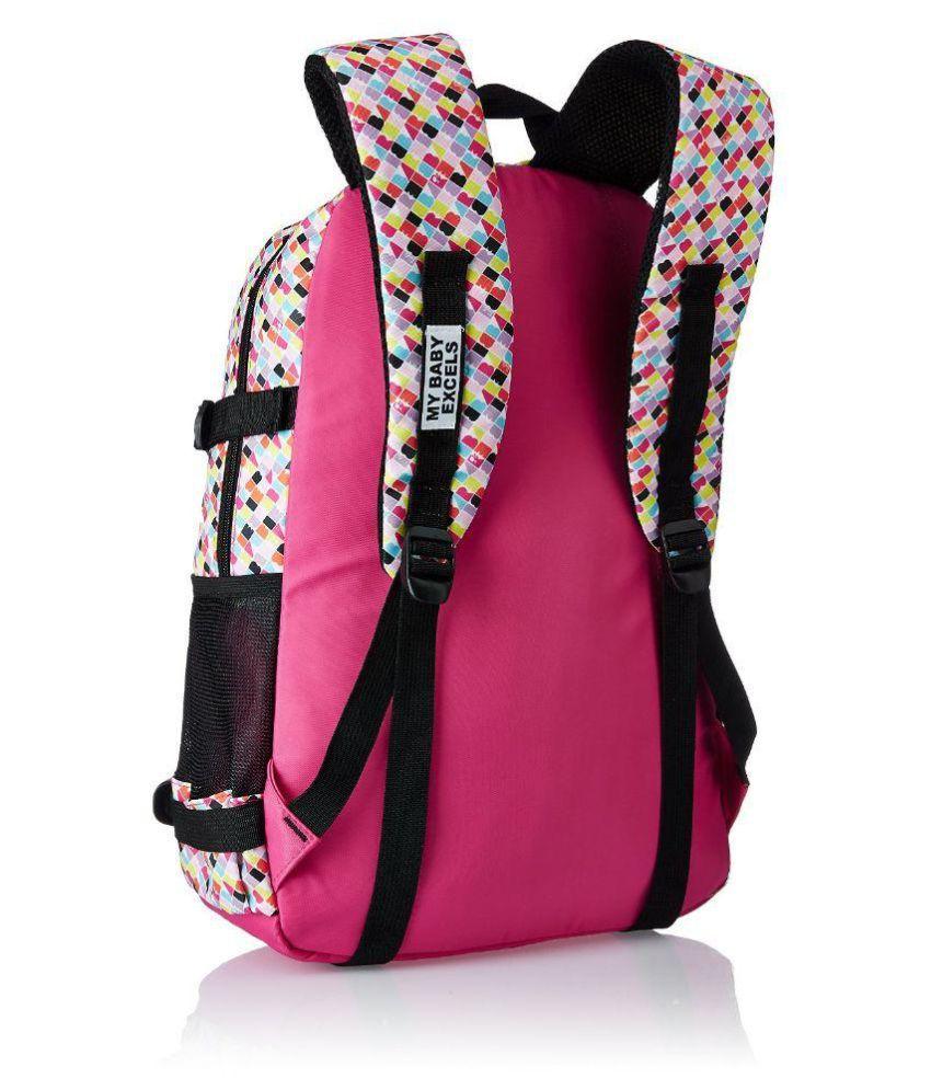 School bag for girl -  Barbie Girl Pink And Black Back 19 Inch School Bag