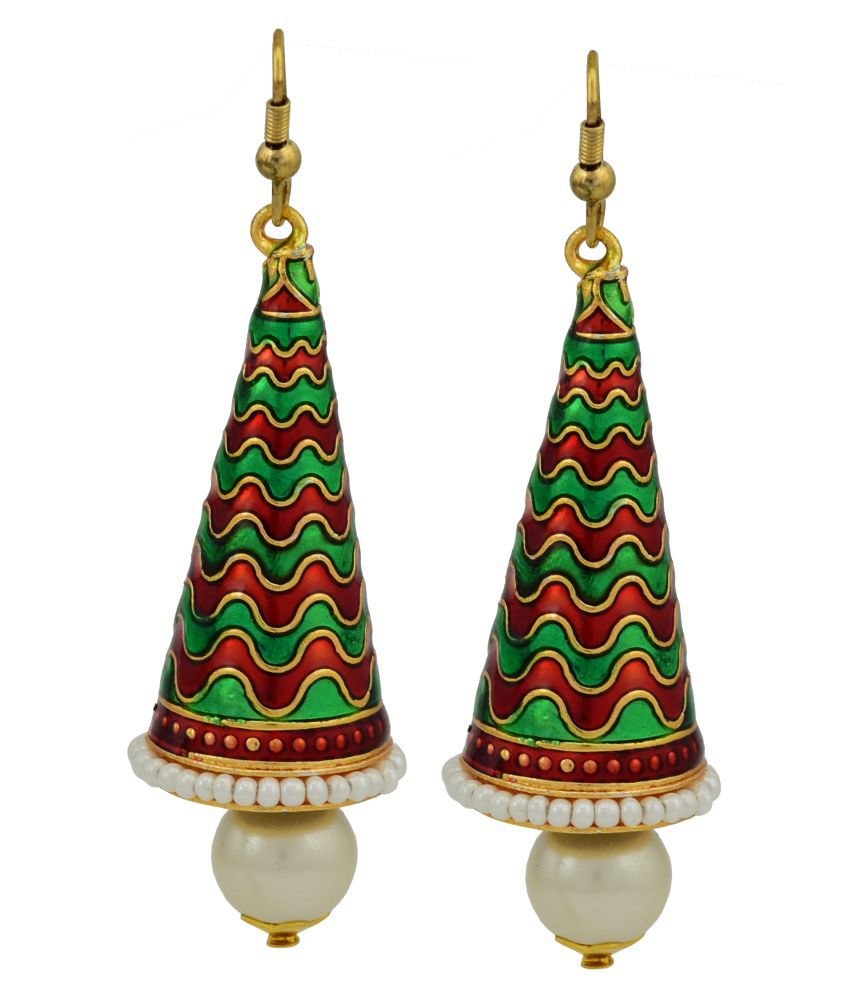 High Trendz Multicolour Jhumki Earrings