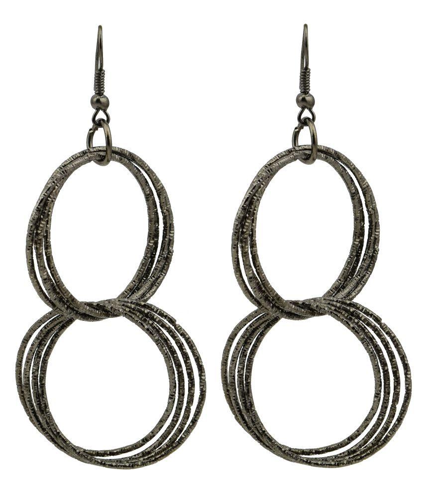High Trendz Silver Hoop Earrings