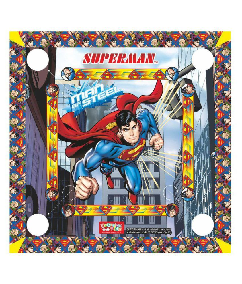Superman Multicolor Carom Board