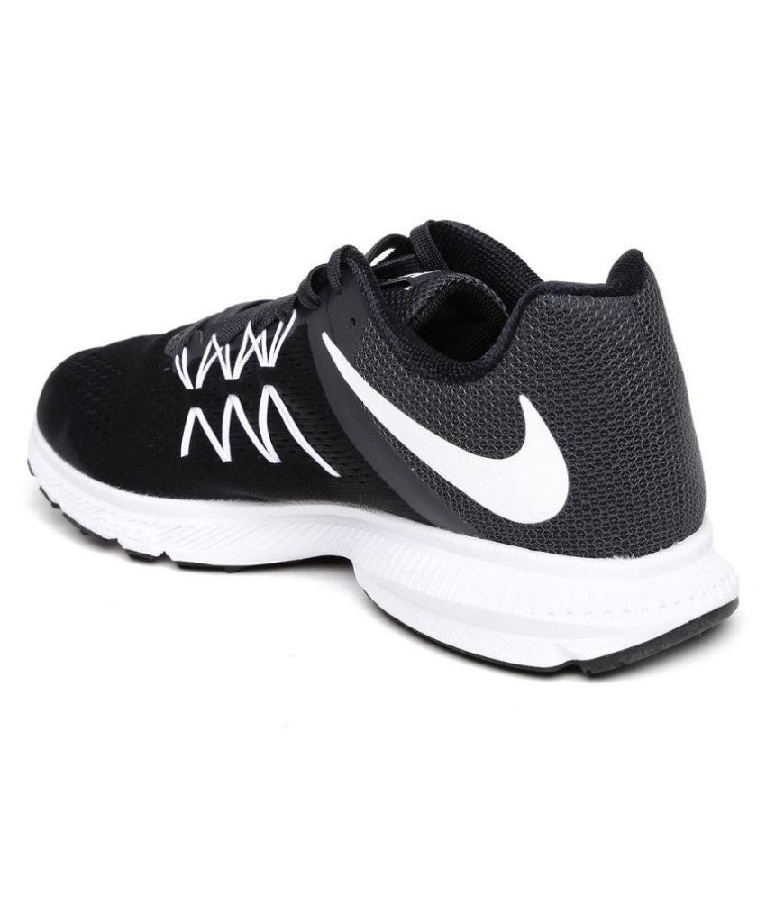 ... Nike Zoom Winflo 3 Black Running Shoes ...